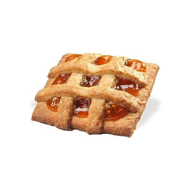 Wholegrain mini tart with apricot