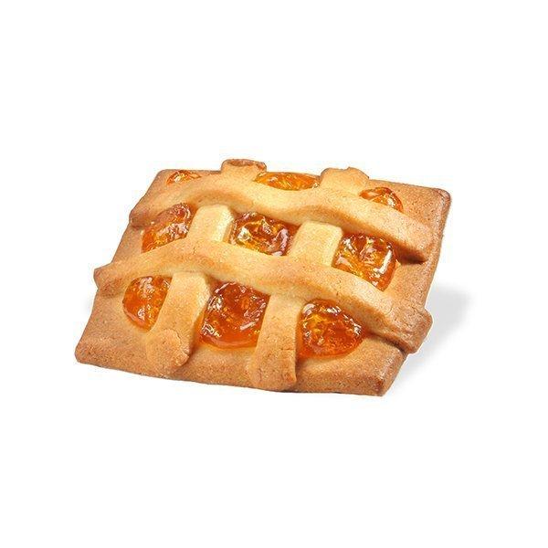 Short pastry apricot mini tart